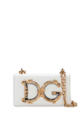 Dg Girl Leather Phone Bag