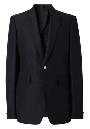 Burberry single-breasted tailored blazer - Blue