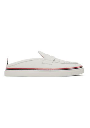 Thom Browne White Slip-On Penny Loafers