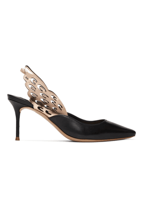 Sophia Webster Black Angelo Mid Slingback Heels