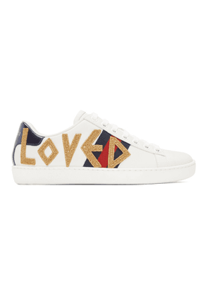 Gucci White Loved Ace Sneakers