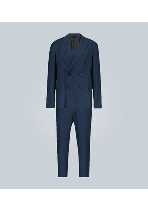 Faded herringbone double-breasted suit