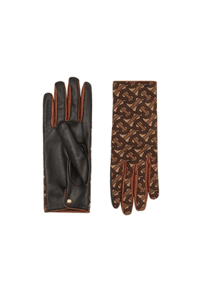 Burberry Cashmere-lined Monogram Print Lambskin Gloves