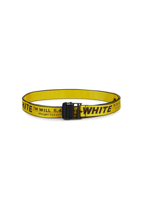 Off-White Industrial Yellow Logo-jacquard Canvas Belt