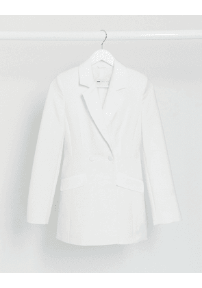 ASOS DESIGN Hourglass double breasted tux suit blazer-White