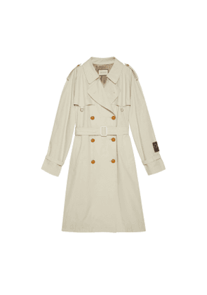 Cotton trench with Gucci label