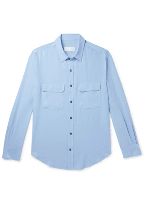 EQUIPMENT - The Original Slim-Fit Silk-Crepe Shirt - Men - Blue