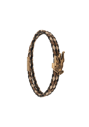 Etro woven leather bracelet - Brown