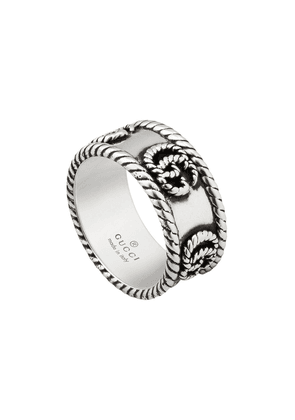 Gucci Double G textured-detail ring - SILVER