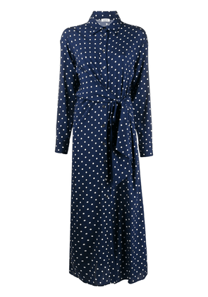P.A.R.O.S.H. polka-dot print gathered dress - Blue