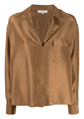 Vince long-sleeve flared blouse - NEUTRALS