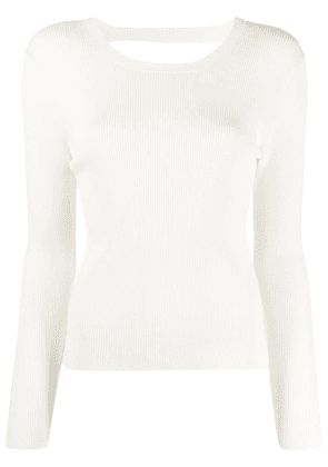 P.A.R.O.S.H. Regina ribbed knit jumper - White