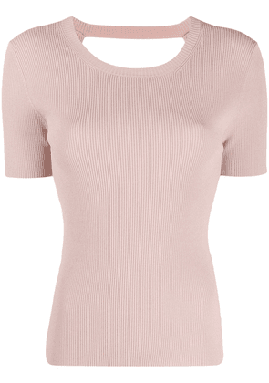 P.A.R.O.S.H. Regina ribbed knit top - PINK