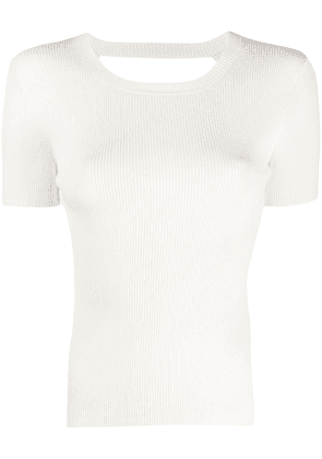 P.A.R.O.S.H. Regina ribbed knit top - White