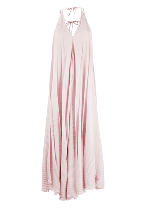 Roland Mouret two-tone pleated dress - PINK