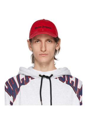 Palm Angels Red Classic Logo Cap