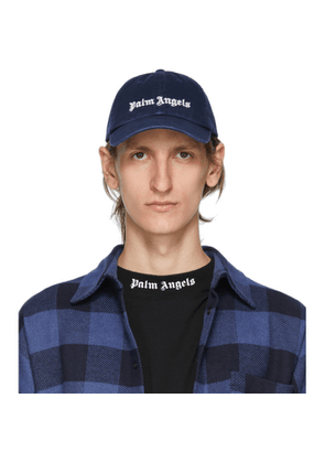 Palm Angels Navy Classic Logo Cap