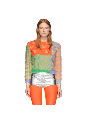 Ashley Williams Multicolor Mohair Patchwork Sweater
