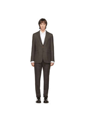 Burberry SSENSE Exclusive Brown Wool Check Suit