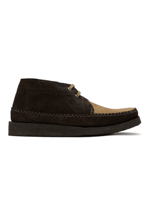 Comme des Garcons Homme Deux Brown Padmore and Barnes Edition Willow Boots