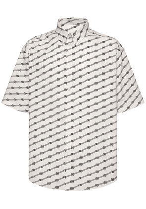 All Over Bb Print Cotton Poplin Shirt