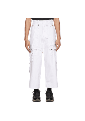 Youths in Balaclava White Cotton Cargo Pants