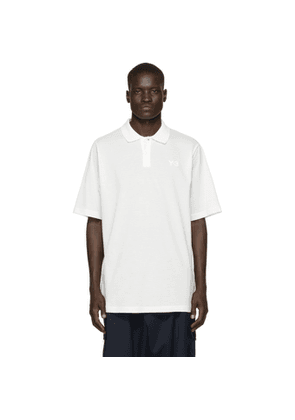 Y-3 White Classic Pique Polo