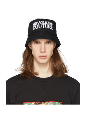 Versace Jeans Couture Black Embroidered Logo Bucket Hat