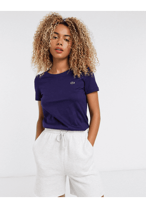 Lacoste graphic logo t-shirt in blue