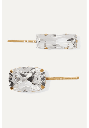 Jennifer Behr - Set Of Two Gold-tone Crystal Hair Slides - one size