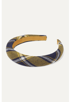 Jennifer Behr - Kamden Checked Wool Headband - Navy