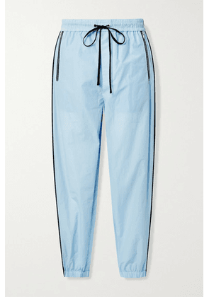 3.1 Phillip Lim - Cotton-blend Jersey Track Pants - Sky blue