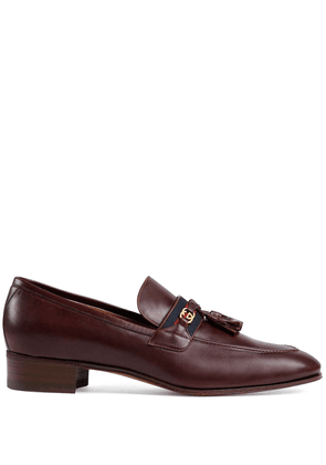 Gucci Web detail loafers - Brown