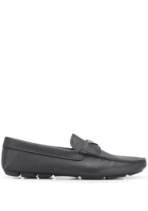 Prada triangle logo loafers - Black