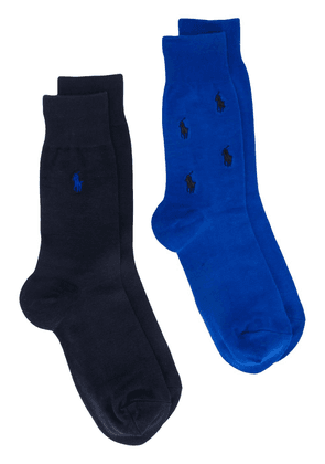 Polo Ralph Lauren two-pack embroidered logo socks - Blue