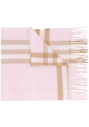 Burberry cashmere check stole - PINK