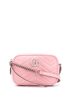 Gucci quilted GG motif crossbody bag - PINK