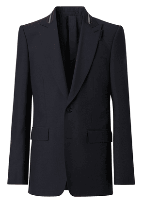 Burberry striped detail tailored jacket - Blue