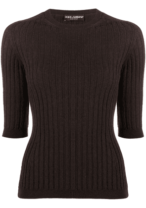 Dolce & Gabbana rib-knit top - Brown