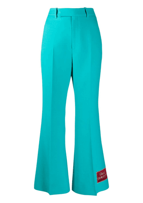 Gucci Eterotopia flared trousers - Blue