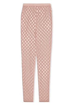 Gucci GG embroidered tulle leggings - PINK