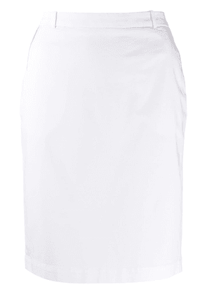 Fabiana Filippi monili-trimmed pencil skirt - White