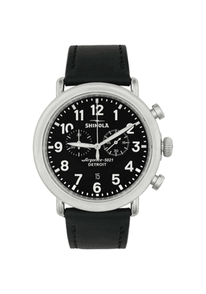 Shinola Silver and Black The Runwell Chrono 47mm Watch