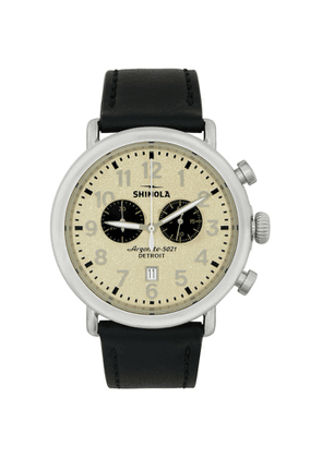 Shinola Silver and Off-White The Runwell Chrono 47mm Watch