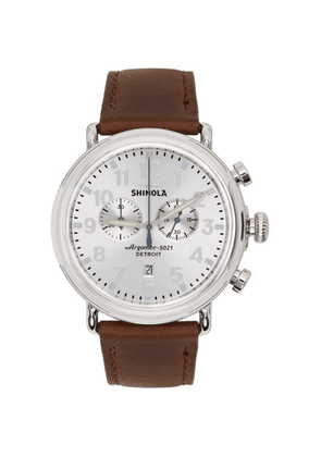 Shinola Silver and Brown The Runwell 47mm Watch