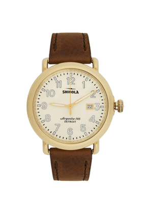 Shinola Gold and Off-White The Runwell 41mm Watch