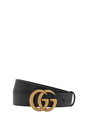 3cm Gg Gold Buckle Leather Belt