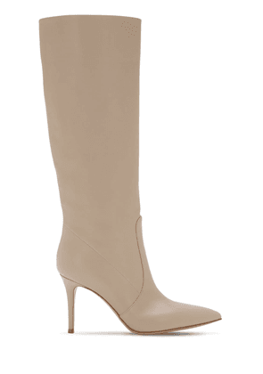 85mm Slouch Leather Tall Boots