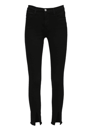 Le High Skinny Denim Jeans W/ Slits