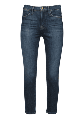 Le High Cropped Skinny Denim Jeans